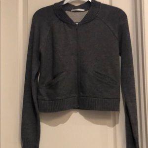 Cropped sweater jacket
